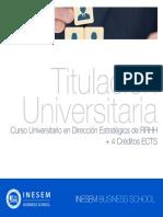 Curso Universitario en Dirección Estratégica de RRHH + 4 Créditos ECTS