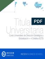Curso Universitario de Dirección Estratégica y Globalización + 4 Créditos ECTS