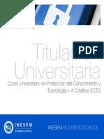Curso Universitario en Protección del Conocimiento y Tecnología + 4 Créditos ECTS