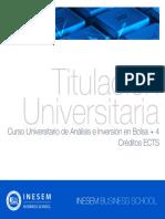 Curso Universitario de Análisis e Inversión en Bolsa + 4 Créditos ECTS