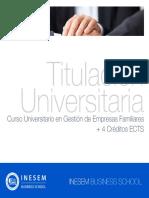 Curso Universitario en Gestión de Empresas Familiares + 4 Créditos ECTS