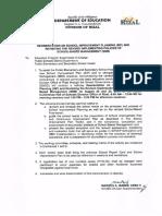 Division Memorandum No. 57, s. 2015