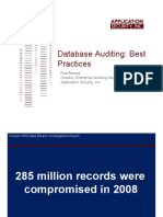 Database Auditing Best Practices-Application Security