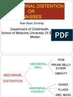 K - 33 Abdominal Distention of Masses (Ilmu Kesehatan Anak)
