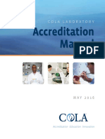 COLA Laboratory Accreditation Manual
