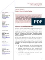 Informed Trading Vol. 1--Toward Informed Equity Trading--(Instinet, LLC)