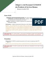 Questions DP CGT-SUD OLPS - Juillet 2016
