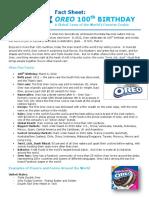 Oreo Global Fact Sheet 100th Birthday