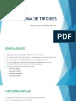 Carcinoma de Tiroides