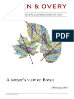 A Lawyer's View on Brexit--5 February 2016--(Allen & Overy LLP)