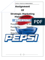 Pepsi Fianl Report strategic marketing management
