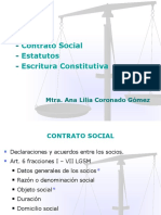 Contrato Social, Estatutos, Escritura constitutiva