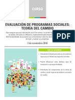 Curso Evaluación Programas Sociales