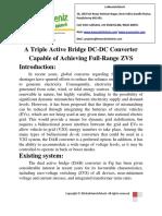 A Triple Active Bridge DC-DC Converter Capable of Achieving Full-Range ZVS