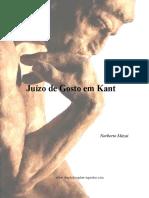 Juízo do gosto em Kant