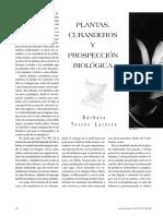 Torres Latorre - Plantas Curanderos Y Prospeccion Biologica