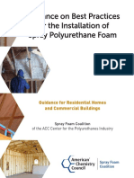 Guidance on Best Practices for the Installation of Spray Polyurethane Foam
