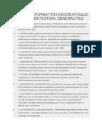 Systeme d'Information Geographique Et Teledetection Generalites