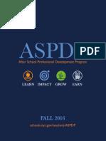 ASPDP Fall 2016 Catalog