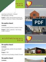 Architecture Award Passive House 2010