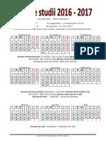 Calendarul Profesorului 2016-2017