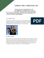Los 10 Peruanos Mas Conocidos en El Mundo