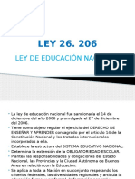 Ley y Resoluciones 26.206