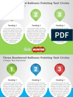 Three Numbered Balloon Pointing Text Circles Powerpoint
