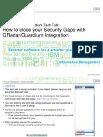 Guardium-QRadar Integration Techtalk 060513