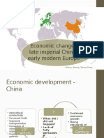 Economic Change China - Europe