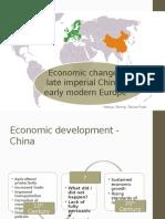 Economic Change China - Europe