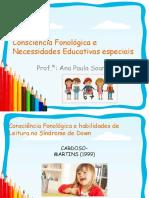 Consciência Fonológica e Necessiaddes Educativas Especiais