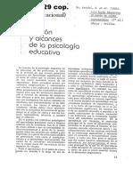 AUSUBEL. Función y Alcances de La Psicología Educativa (Cap 1), En Psicología Educativa, Un Punto de Vista Cognocitivo