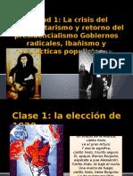 2-Unidad 1_La Crisis Del Parlamentarismo y Retorno Del Presidencialismo (Ppt1)