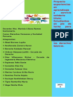 Informe Proyecto Experiencias en Aprendizaje y Servicio Solidario