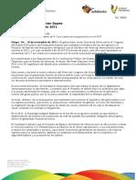 10 11 2011 - El gobernador Javier Duarte de Ochoa, envía Proyecto de Presupuesto 2012.
