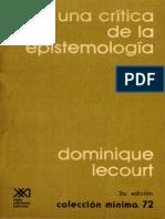 Lecourt Dominique - Para Una Critica de La Epistemologia