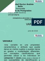 Variables Clasificación