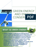 Green Energy and Energy Conservation