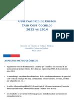 Informe Observatorio de Costos 2015 COCHILCO Presentacion