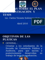 Pláticas Tesis (Abril 2016)