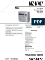 Sony MZ-N707 Service Manual