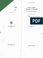 PISANI.+Testi+latini+arcaici+e+volgari