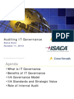 2012-10 Lunch - Auditing IT Governance