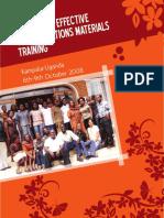 Communications Materials Training Uganda