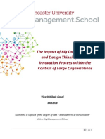 The Impact of Big Data Analytics and Design Thinking on the Innovation Process Within the Context of Large Organisations