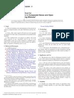 D3203D3203M − 11 Standard Test Method for Percent Air Voids in Compacted Dense and Open Bituminous Paving Mixtures1-Segunda