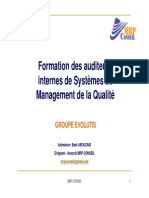 Formation Audit Int EVOLUTIS