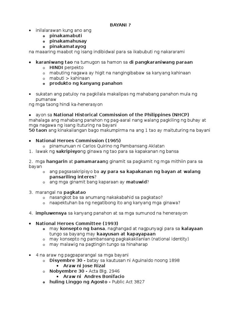 araw ng mga bayani essay