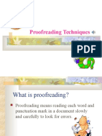 Proofreading Techniques (1)